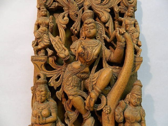 """Photo: Carved Wood Panel from India 18"""" x 9 1/4"""" x 2 1/2"""""""