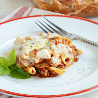 Cheesy Baked Penne Pasta