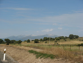 Photo: Snow capped mutains on the road to Piedrahita