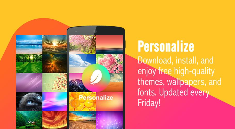 Screenshots of Hola Launcher-Theme, Wallpaper for Android