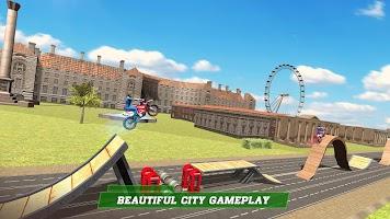 London City Motorbike Stunt Riding Simulator