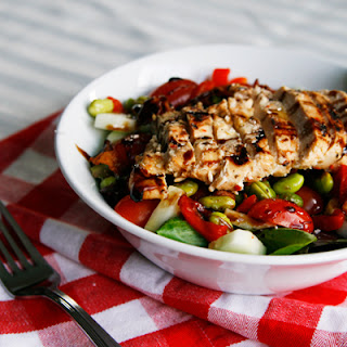 Edamame Chicken Dinner Salad.