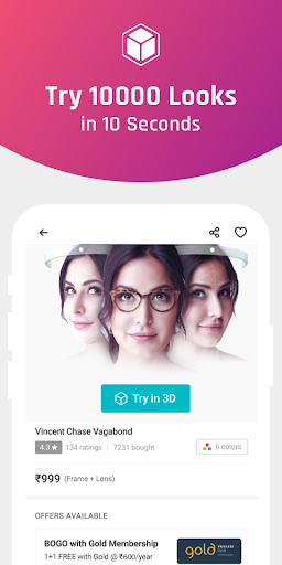 Lenskart: Eyeglasses, Sunglasses, Contact Lens App 2.6.1 screenshots 1