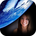 Earth photo frame costume montage editor icon