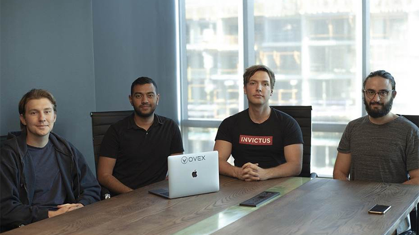 Left to right: Tom Masojada, chief product officer at Ovex; Nihar Ramchunder, CTO of Ovex; Daniel Schwartzkopff, CEO of Invictus Capital; and Jonathan Ovadia, CEO of Ovex.