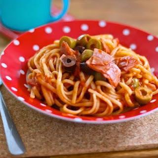 Linguine, Ham and Olives Recipe