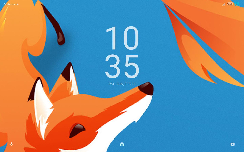 Google themes fox - Flame Fox Xperia Theme Screenshot