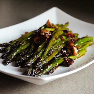 Pan Seared Asparagus with a Soy Sauce Glaze.