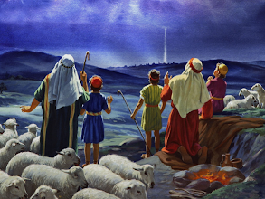 Photo: Image: The Shepherds and the Angels ~ Luke 2:8-14 ESV  GOD SO LOVED THE WORLD  Series: Who Is He In Yonder Stall? The Heavenly Host's Response: ''A Savior Who is Christ the Lord''  https://sites.google.com/site/biblicalinspiration1/home/biblical-inspiration-1-series-the-who-is-he-in-yonder-stall-gabriel-answers-he-is-the-son-of-the-most-high-the-moody-church/biblical-inspiration-1-series-who-is-he-in-yonder-stall-the-heavenly-host-s-response-a-savior-who-is-christ-the-lord-the-moody-church