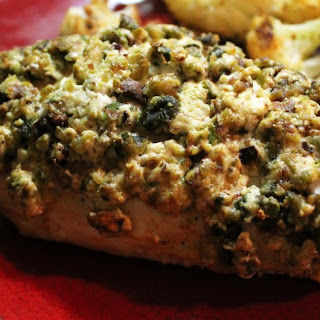 Pistachio And Goat Cheese Encrusted Chicken With Apricot Mustard