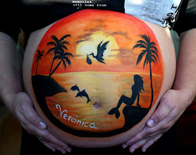 Photo: belly painting isla atardecer