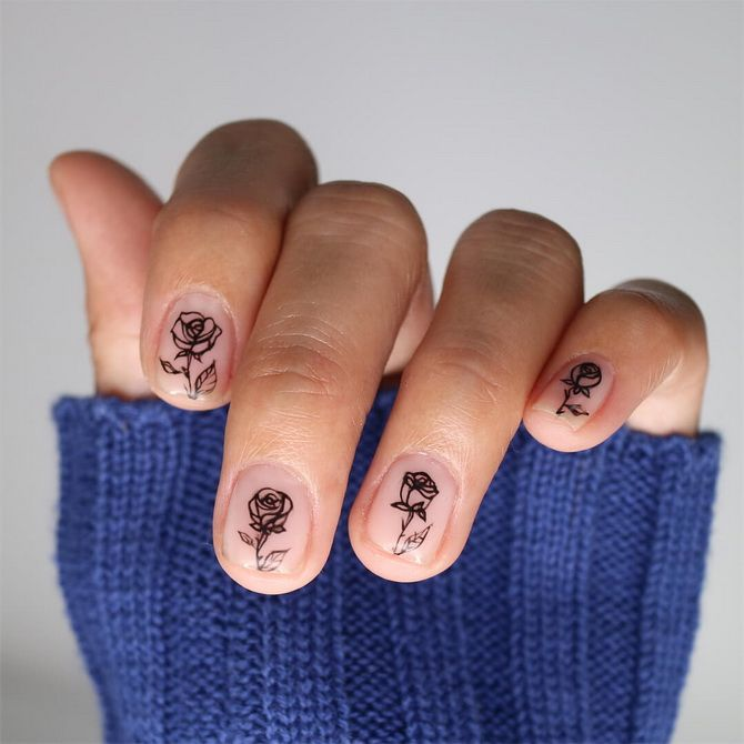 photo of manicure for short nails 2020