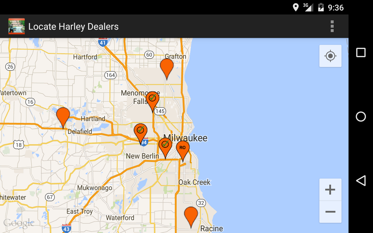 Locate Harley Dealers- screenshot