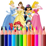 Disney Princess and Cartoon Coloring Pages icon