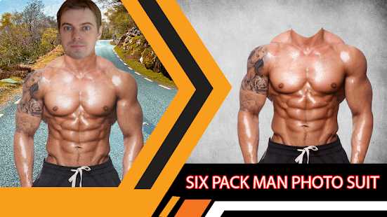 Six Pack Man Photo Suit - náhled
