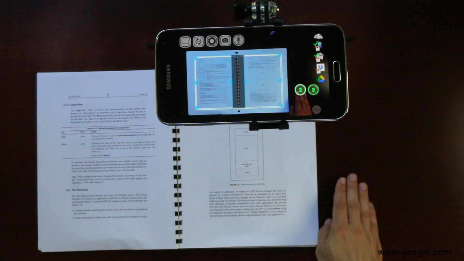 SkanApp hands-free PDF scanner- screenshot