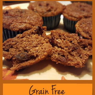Grain Free Pumpkin Raisin Muffins