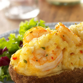 Shrimp-Stuffed Twice-Baked Potato