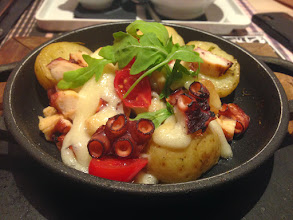 Photo: Grilled Octopus with garlic aioli. Smoky octopus, perfectly cooked melt in the mouth potatoes, so spectacular - just as described on the menu.