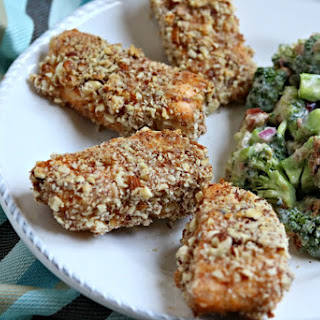 Baked Almond Crusted Salmon Sticks