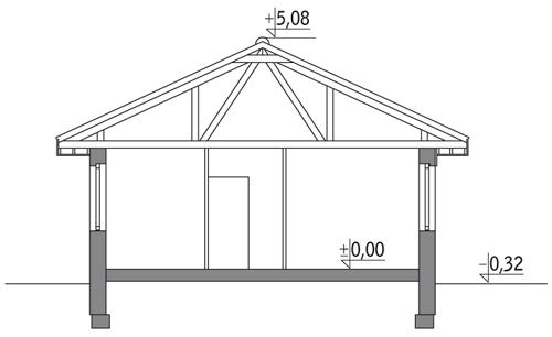 Dom na 102 - wariant III - D09b - Przekrój