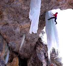 Photo: Flashing an excellent mixed climb in Italy
