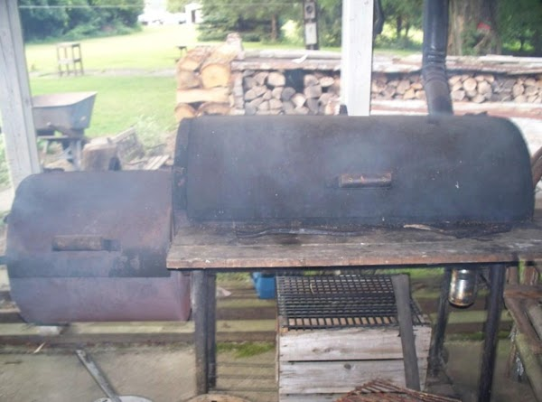 We have a smoker which has a firebox on the side of it which...