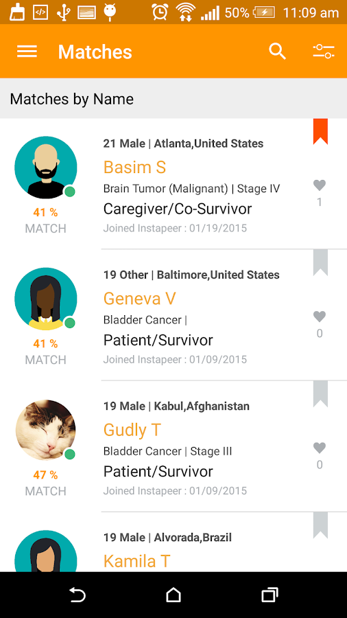 Instapeer:Cancer Peer Matching- screenshot