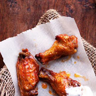 Baked Buffalo Wings.