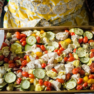 Sheet Pan Greek Chicken & Veggies {Paleo, Whole30}.