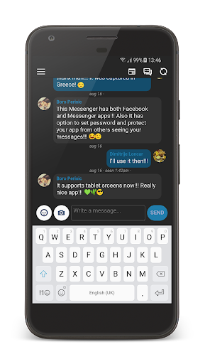 Inbox Messenger Lite screenshot 1
