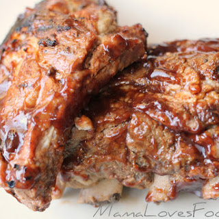 Apple Cider Pork Barbecue Ribs.