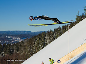 Photo: World Cup Ski flying Vikersund HS225 - Gregor Schlierenzauer, who won both days (sharing the 1st place with Johan Remen Evensen in the first competition).