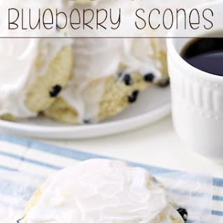 Iced Blueberry Scones.
