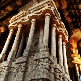 Musical Pillars by Aparajita Saha - Buildings & Architecture Public & Historical ( temple, hampi, 12th cent. ad, ancient architecture )