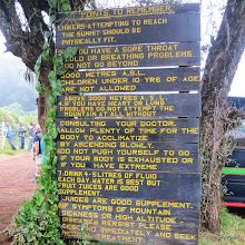 Photo: So warned - at Lemosho Gate