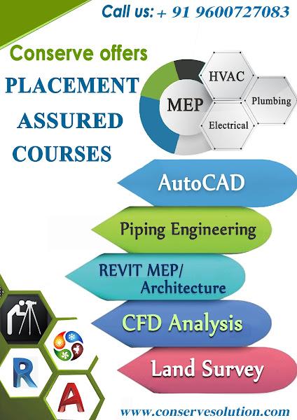 CONSERVE ACADEMY - MEP training, Green Building & MEP Piping, REVIT