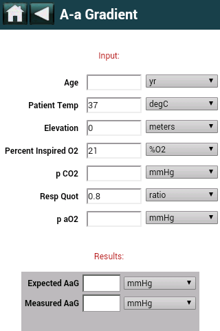 EBMcalc Pulmonary- screenshot