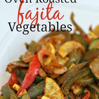 Oven Roasted Fajita Vegetables.