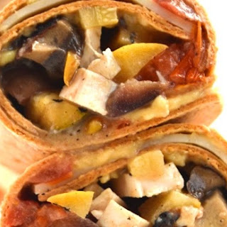 Marinated Grilled Chicken and Vegetable Wraps Recipe