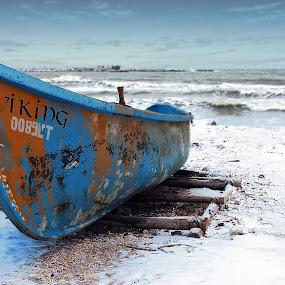 Old boat by Alex Alex - Transportation Boats ( old, boat )