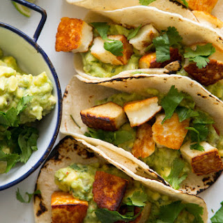 Fried Halloumi Tacos.