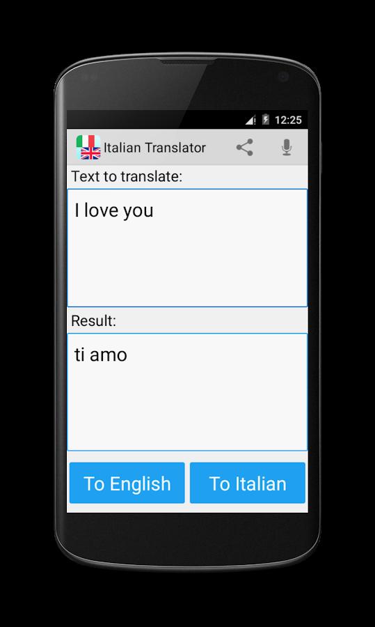 English To Italian Translator Google: Android Apps On Google Play