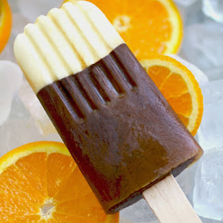 Chocolate-Orange Frozen Latte Pops
