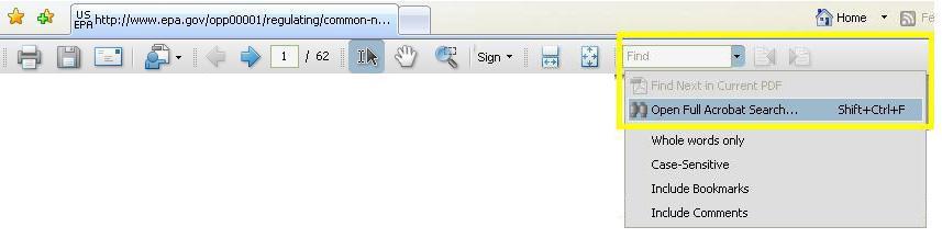 PDF Acrobat find