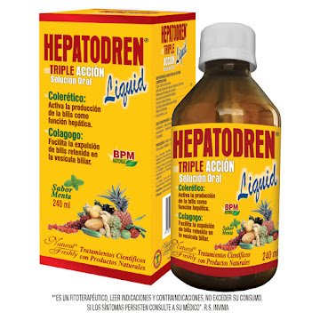HEPATODREN TRIPLE ACCION   SOLUCIÓN ORAL FRASCO X240ML.NATURAL FRESHLY