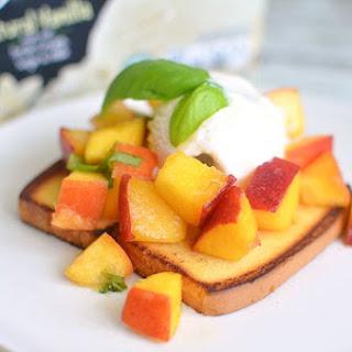 Chef Antonia Lofaso's Pound Cake & Peaches Sundae