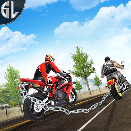 Crazy Chained Bike Race 3D: Bike Racing Game 2018