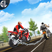 Crazy Chained Bike Race 3D: Bike Racing Game 2018