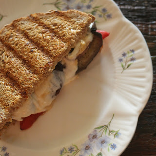 Roasted Veggie, Pesto, and Mozzarella Panini Recipe